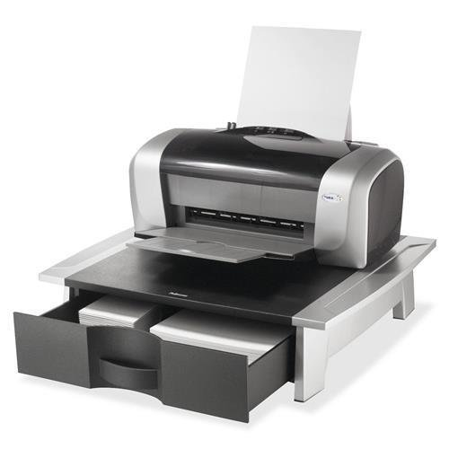 Office Suites Desktop Printer Stand, 21-1/4''x18-1/16''x5-1/4'', Black/Silver (8032601) by Office Suites