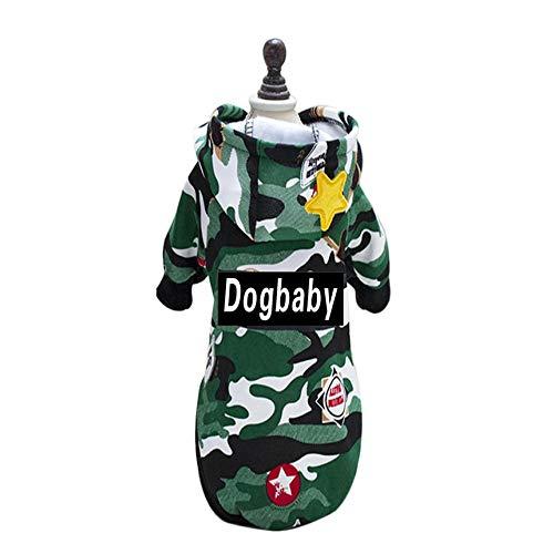 Camouflage Dog Coat Cotton Dog Jacket Fashionable Dog Hoodie Dog Outer Garment green