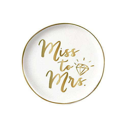 Slant Collections Round Trinket Tray - Miss to Mrs