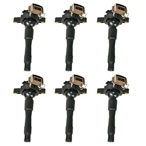 Carrep Ignition Coil Coils Set Of 6 For Bmw M5 X5 Z8 5 & 7 Series E36 325 330 328 525i 540i M3 UF354 (Bmw 328 Spark Plug compare prices)