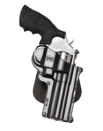 Fobus Tactical LK-4 Standard Right Hand Conceal Carry Polymer Paddle Holster For Smith&Wesson L&K Frame 4inch Barrel / Zastava R 357 M83, Taurus 65 / .357 Magnum - Black