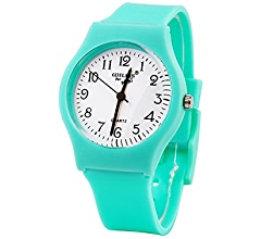 Amazon.com: Sunshine Boys Girls Watches,Teenagers Kids Student Time Wrist Watch Soft Comfortable Silicone Band Mini (Light Green): Health & Personal Care