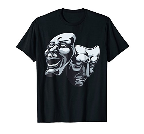 Drama Theater Masks Comedy and Tragedy T Shirt]()