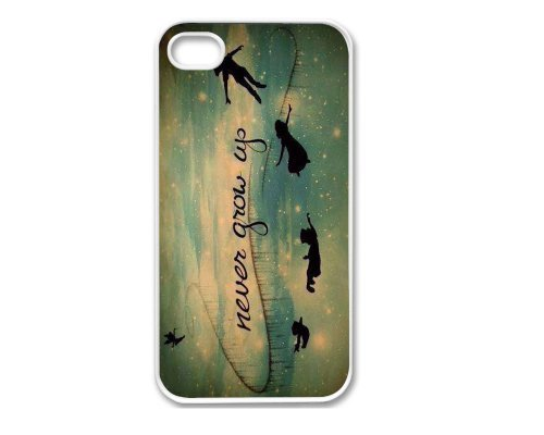 Iphone 4 Case, Thin Flexible Plastic Case Iphone 4 Case Never Grow Up