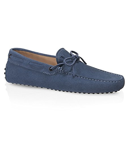 Tod's Men's Xxm0gw05470re0u216 Gommini Reale Blue Suede Loafers - IT 44 UK 10 US 11