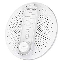 Sound machine, Pictek White Noise Machine for Baby Adult Sleeping, Sound Therapy Machine with 24 Natural Soothing Sounds, Portable with Permanent Option Timer Spa Relaxation for Office or Travel (No adapter)