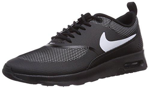 Max de running White piel Black Air Schwarz negro de Thea mujer Nike zapatillas 017 FTw5U