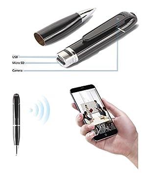CursOnline® Elegante bolígrafo espía HD 720P P2P Wifi IP Cámara Oculta HD 720P, conectividad