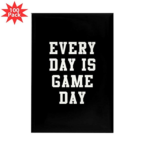 CafePress - Every Day Is Game Day - Rectangle Magnet (100 pack) by CafePress