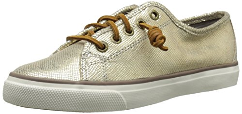 Sperry Top-Sider Women's Seacoast Metallic Python Fashion Sneaker, Bronze, 10 M US