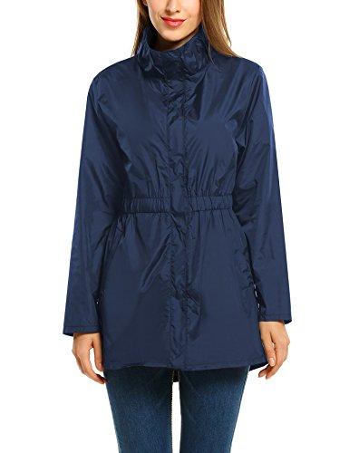 ANGVNS Womens Waterproof Windproof Raincoat