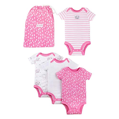 Organic Piece 4 - LAMAZE Organic Baby Girls Baby Organic 4 Piece Gift Set, Pink, 12M