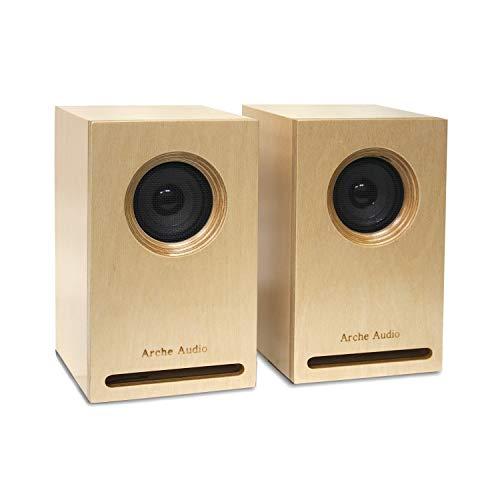 Arche Audio FR 2, Hi-Fi Audio Bookshelf Loudspeaker Semi-Horn-Loaded Full Range Speakers Birch Plywood Enclosure Audiophile Passive Speakers