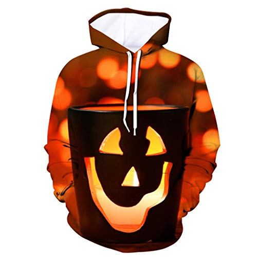Costumes Halloween Camisole De Force - Kauneus❤ Men's Novelty Hoodie Halloween Realistic