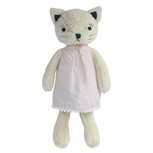 JIARU Stuffed Animals Cats Plush Toys Dressed Dolls with Removable Clothes (White, 13 Inch) ()