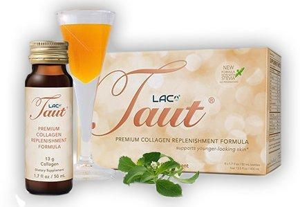 Taut Premium Collagen Replenishment Formula (Box of 8 Bottles, 1.7 Oz Each) by LAC