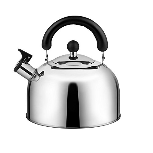 Stainless Steel Whistling Tea Kettle for Kitchen Aid, Tea Po