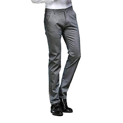 Flat Pantaloni Chino Dritta Regular Fit Anzug Anzughose Chinohose Front Gamba Herren Slim Designer Battercake Hose Dunkelgrau Comodo SqT7F8