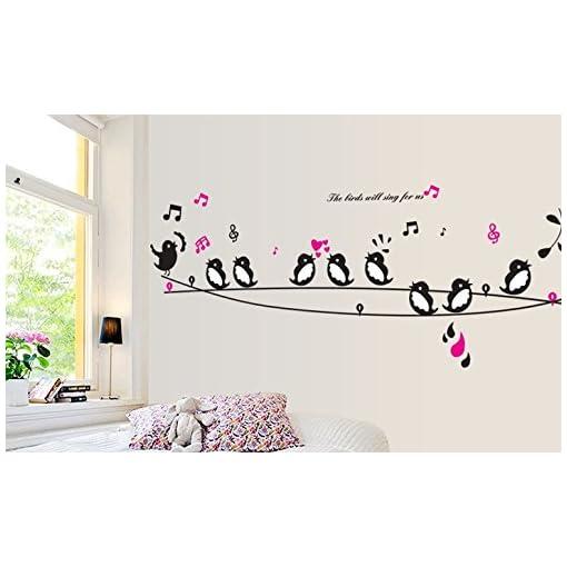 Oren Empower Singing Bird Decorative Pvc Vinyl Medium Wall