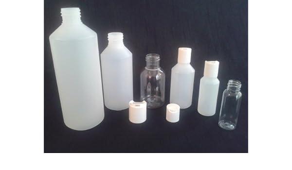 250 ml x 20 vacío botellas de plástico tapa enroscable (medicina/ manualidades/cosméticos/viaje: Amazon.es: Salud y cuidado personal