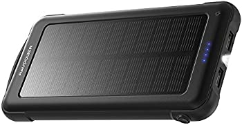 RAVPower 10000mAh Portable Power Bank w/Solar & Outlet Charging