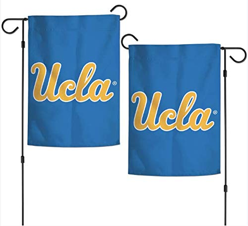 """WinCraft NCAA UCLA Bruins 12.5"""" x 18"""" Inch 2-Sided Garden Flag - Yellow UCLA Logo with Blue Background"""