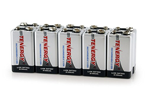 Combo: 10pcs Tenergy 9V 600mAh Li-ion Rechargeable Batteries Photo #1