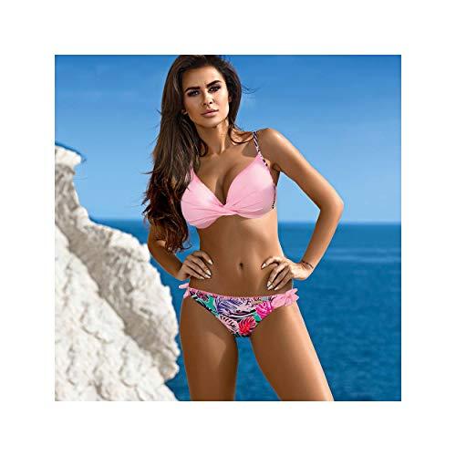 Sexy Bikini Female Swimsuit Push Up Plus Size Swimwear Women Swimming Suit for Women Bikinis Set Beachwear Bathing Suit XXL Ivory XXL
