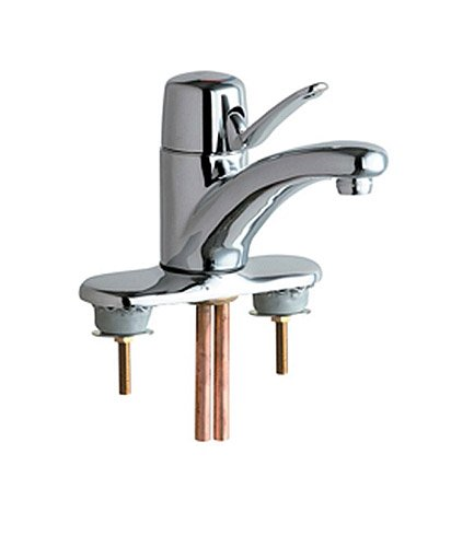 Commercial 4' Deck Plate (Chicago Faucets 2200-4CP Marathon Centerset Lavatory Faucet, Chrome)