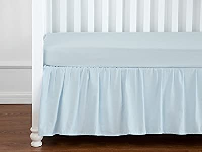 TILLYOU Solid Crib Bed Skirt with Ruffle