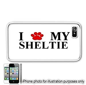 Sheltie Paw Love Dog Apple iPhone 4 4S Case Cover White