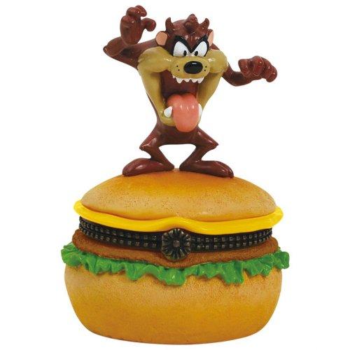 Westland Giftware Looney Tunes Hinged Box, 3.5-Inch High, Taz Hamburger