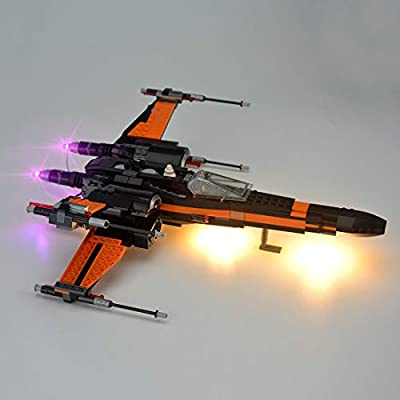 RAVPump Light Set for Poes X-Wing Fighter Blocks Model - LED Lights Kit Lighting Kit Compatible with Lego 75102 ( Lego Set not Included ): Toys & Games