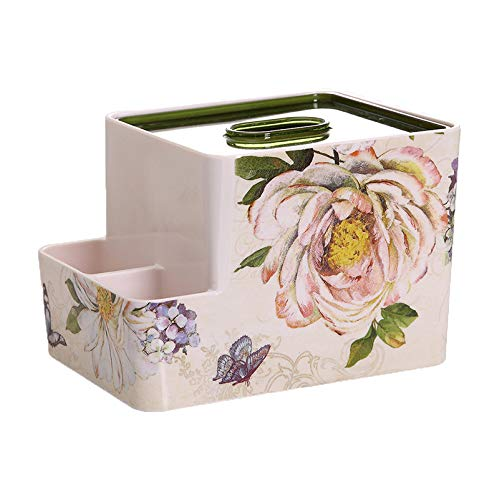 Niceroy Home ins Creative Rectangle Flower Floral roll Paper Facial Tissue Box Cover Organizer Holder for car Bathroom Vanity Countertops Bedroom Dressers Night Stands Desks and Tables - S- Jade Rose