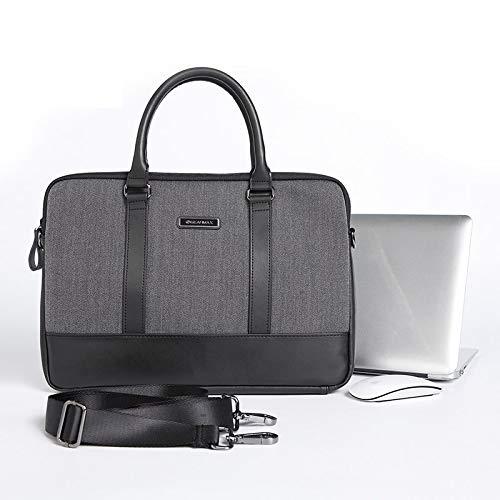 1e7865ad621 WIWU Laptop Shoulder Bag Case, Multi-Functional Suit Fabric Portable Laptop  Sleeve Case for Men Women Compatible Cover for MacBook HP Lenovo Fits ...