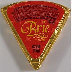 Gourmet Brie Flavor Cheese Spread Wedge (Pack of 6)