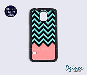Galaxy S4 Case - Green Black Coral Chevron by mcsharks