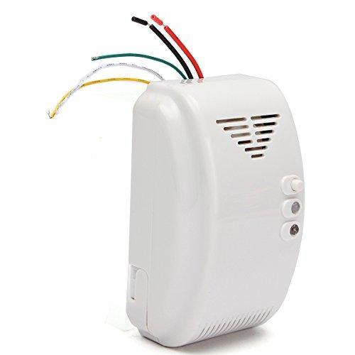 HITSAN 12V Gas Detector Sensor Alarm Propane Butane LPG Natural Motor Home Camper Marine One Piece