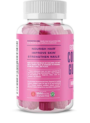 41L6DfPve1L - MAV Nutrition Collagen Hair Vitamins Gummy for Men & Women, Anti-Aging Benefits with Vitamin C, Zinc Supplement & Biotin; Non-GMO, 60 Count