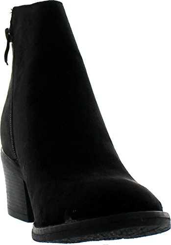 Reneeze Pama 1 Womens Fashionable Stacked Heels Ankle Booties Ankle Bootie