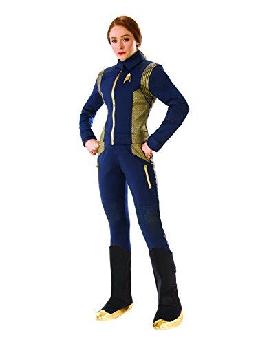 Rubie's Costume Co Women's Star Trek Discovery Command Costume Uniform, Gold, Standard ()