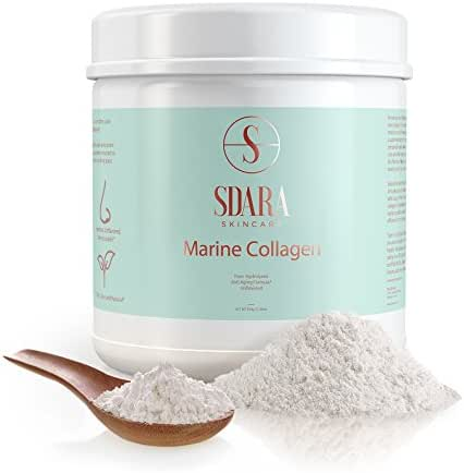 Marine Collagen Peptides Powder - Vital Supplements for Proteins & Peptide Building | Hydrolyzed Protein Support for Hair, Skin, Nails, Bones, Muscles and Joints | Wild - Caught Fish (1-Pack)
