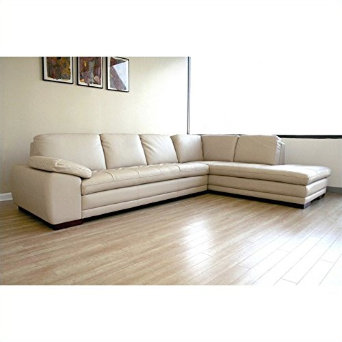 Pleasing Amazon Com Baxton Studio Diana Leather Sectional Sofa In Beatyapartments Chair Design Images Beatyapartmentscom