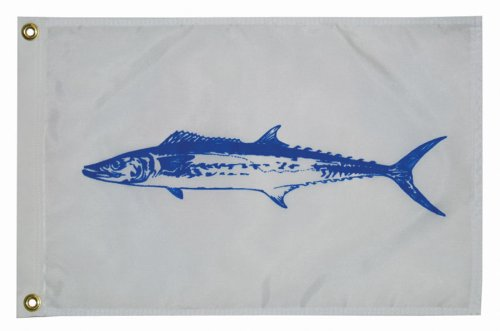 (Taylor Made Products 3518, Fish Flag, Nylon, 12 inch x 18 inch, King)