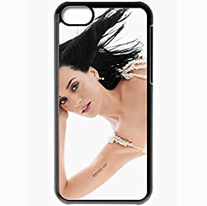 diy phone casePersonalized iphone 5/5s Cell phone Case/Cover Skin Katy perry brunette tattoo singer face Music Blackdiy phone case
