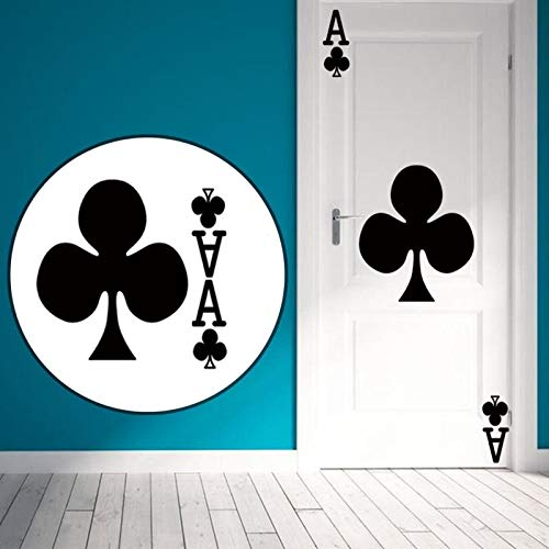 Poker Decal Pro Cards Spade Club Wall Sticker Playing Game Room Night Basement Casino Dealer Deal - Wall Stickers