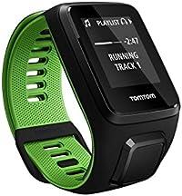 TomTom Runner 3 Cardio+Music Orologio GPS, Cardiofrequenzimetro Integrato, Lettore Musicale Integrato, Cinturino Small, Nero/Verde