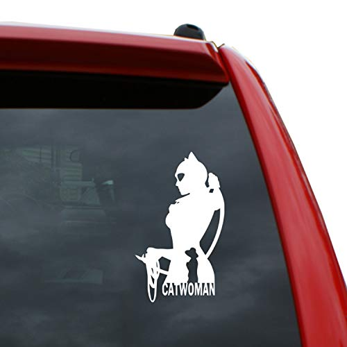 Catwoman Vinyl - Black Heart Decals & More Catwoman Vinyl Decal Sticker | Color: White | 5