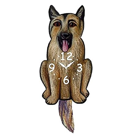German Shepherd Dog Wagging Tail Pendulum Clock
