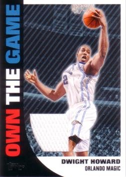 - 2008-09 Topps Own the Game Relics #OTGR4 Dwight Howard Game Worn Jersey Basketball Card
